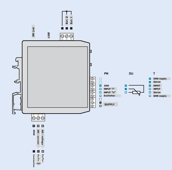 Đấu dây cho bộ chuyển đổi loadcell ra 4-20mA