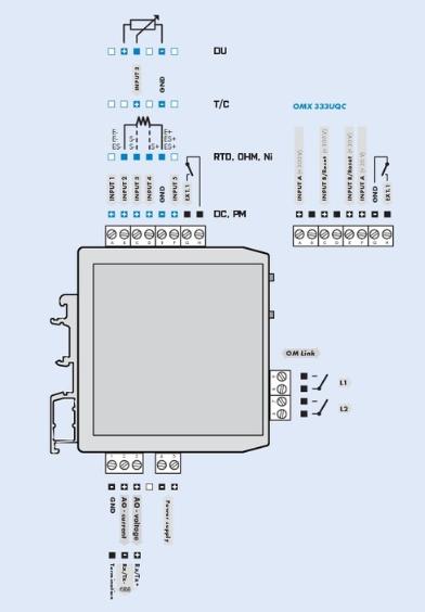 Sơ đồ đấu dây của bộ chuyển đổi biến trở ra 4-20mA