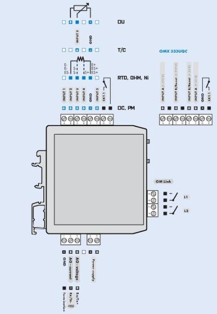 Đấu dây tín hiệu cho bộ chuyển đổi mV ra 4-20mA