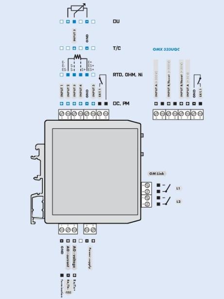 Đấu dây cho bộ chuyển đổi điện trở ra 4-20mA