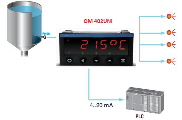 Bộ hiển thị điều khiển nhiệt độ Pt100 CH SÉC