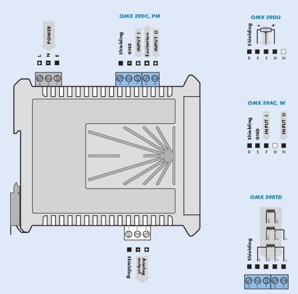 Đấu dây cho bộ chuyển đổi 0-5A AC ra 4-20mA