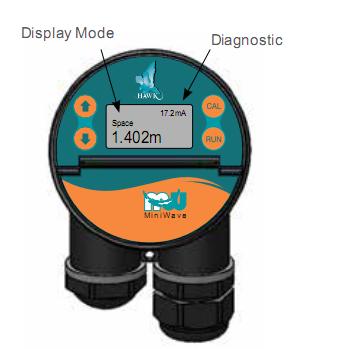 Màn hình hiển thị của cảm biến đo mức nước liên tục
