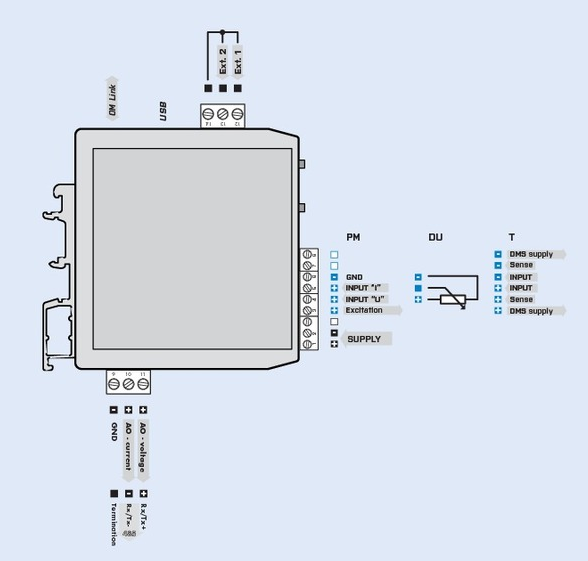 Đấu dây cho bộ khuếch đại loadcell ngõ ra 4-20mA 0-10V