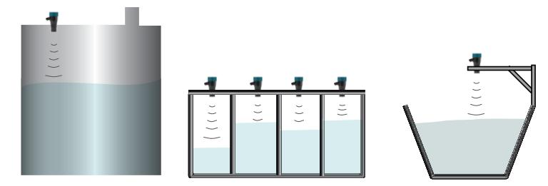 Cảm biến đo mức bể nước sạch bằng siêu âm
