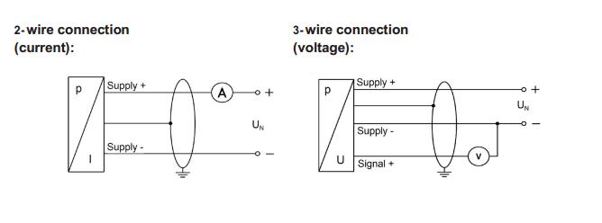 Đấu dây cho cảm biến đo áp suất 4bar 6bar 10bar