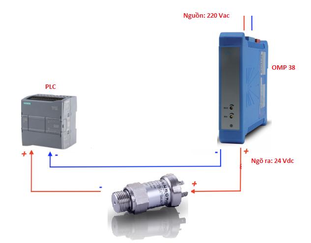 Đấu dây chính xác cho cảm biến đo áp suất 4bar 6bar 10bar