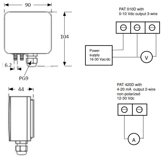 Thông số kỹ thuật của cảm biến đo chênh áp cầu thang
