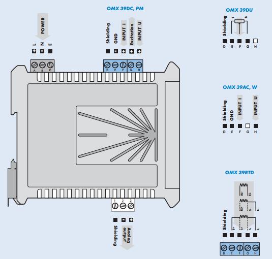 Bộ chuyển đổi điện áp 0-450V AC ra 4-20mA CH SÉC