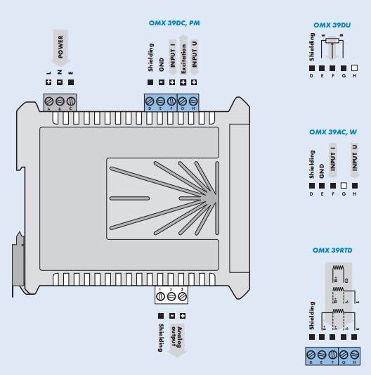 Đấu dây cho bộ chuyển đổi điện áp ắc quy ra 4-20mA