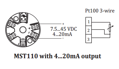 Đấu dây tín hiệu cho bộ chuyển đổi pt100 ra 4-20mA giá rẻ
