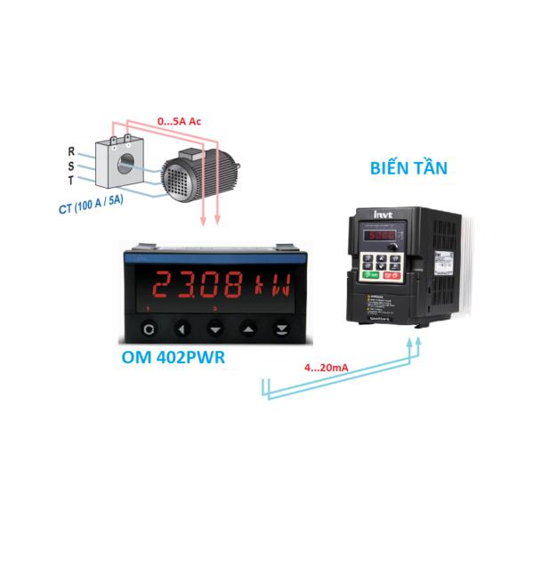 Bộ Transducer 0-5A Ra 4-20mA Có Hiển Thị