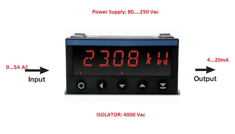 Bộ transducer 0-5A ra 4-20mA có hiển thị CH SÉC