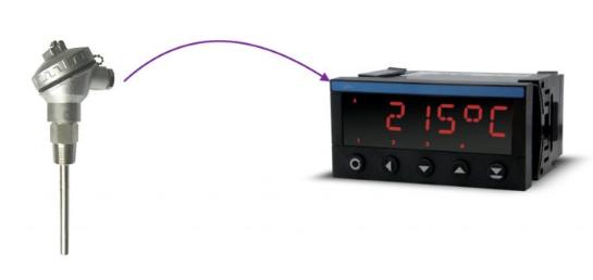 Đầu dò nhiệt độ pt100 3 dây với bộ hiển thị