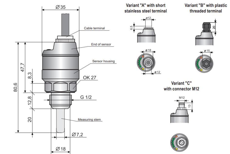 Thông số kỹ thuật của công tắc dòng chảy ngõ ra 4-20mA
