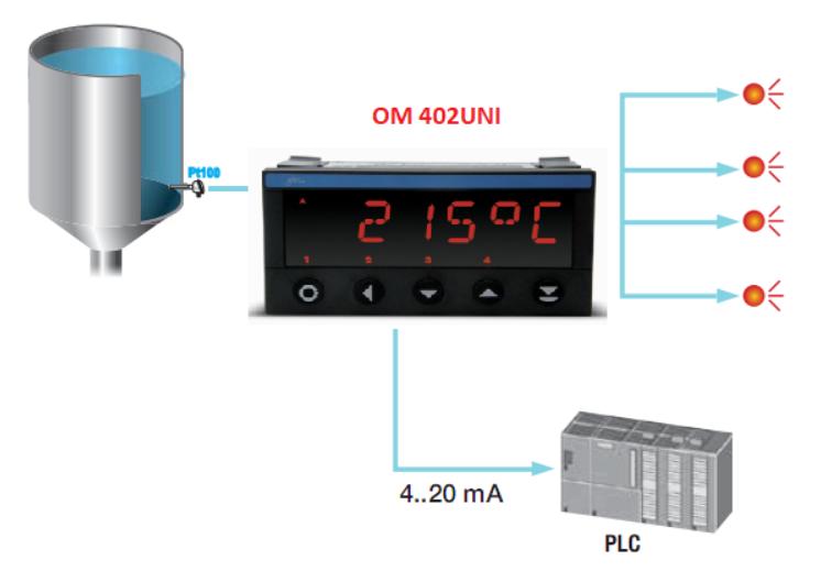 cảm biến nhiệt độ dùng cho lò hơi và bộ điều khiển