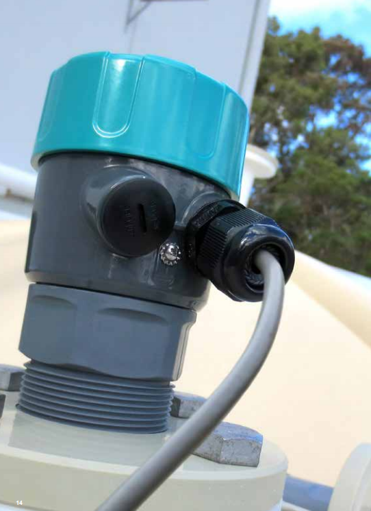 cảm biến siêu âm mwb1a đo mức nước bể ngầm