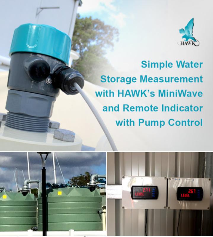 kiểm soát mức nước tập trung bằng cảm biến siêu âm