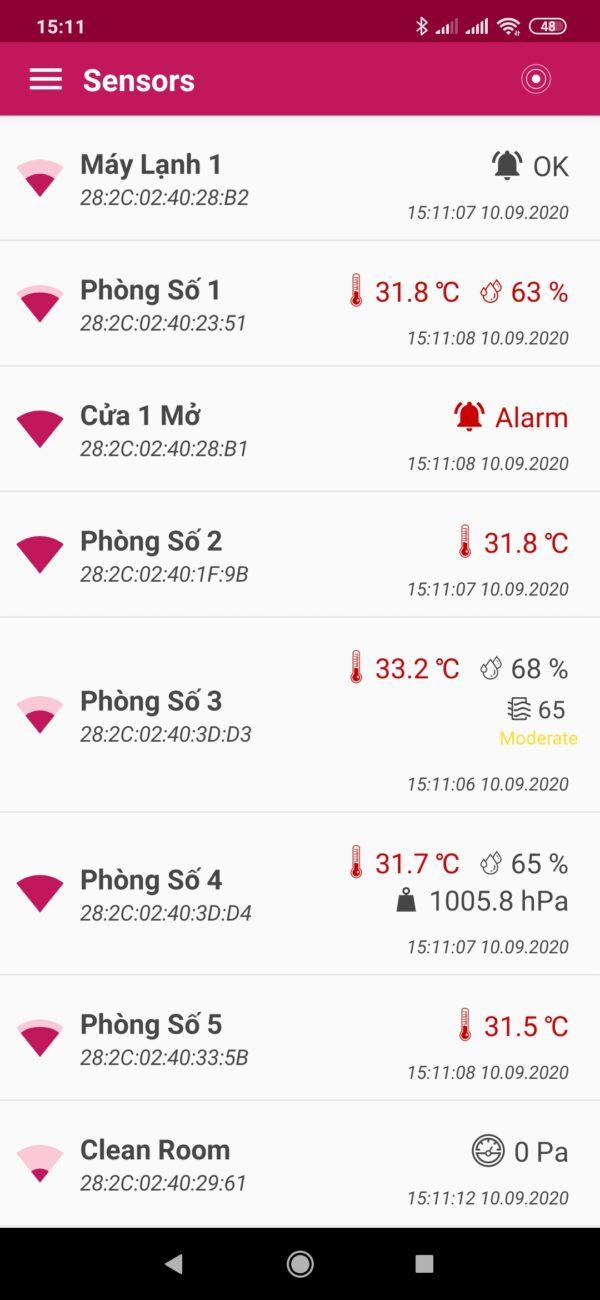 Bộ ghi dữ liệu nhiệt độ độ ẩm cho phòng sạch
