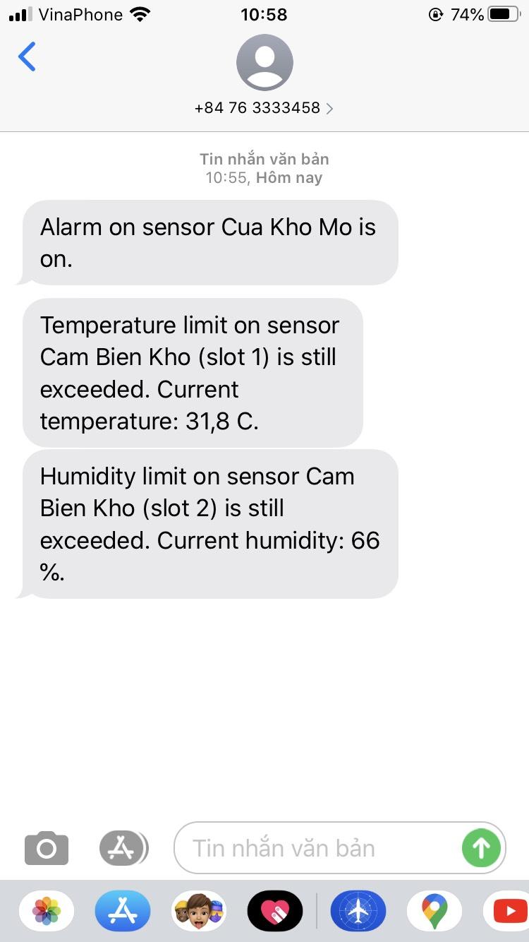 Cảnh báo nhiệt độ và độ ẩm kho thực phẩm