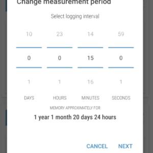 Cảm biến đo nhiệt độ và tự động lưu dữ liệu