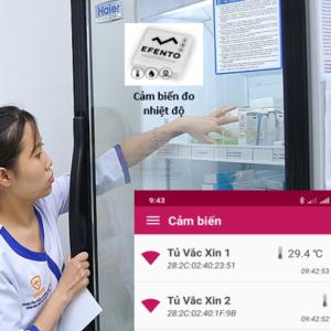Thiết bị ghi nhiệt độ tủ lạnh vaccine tự động
