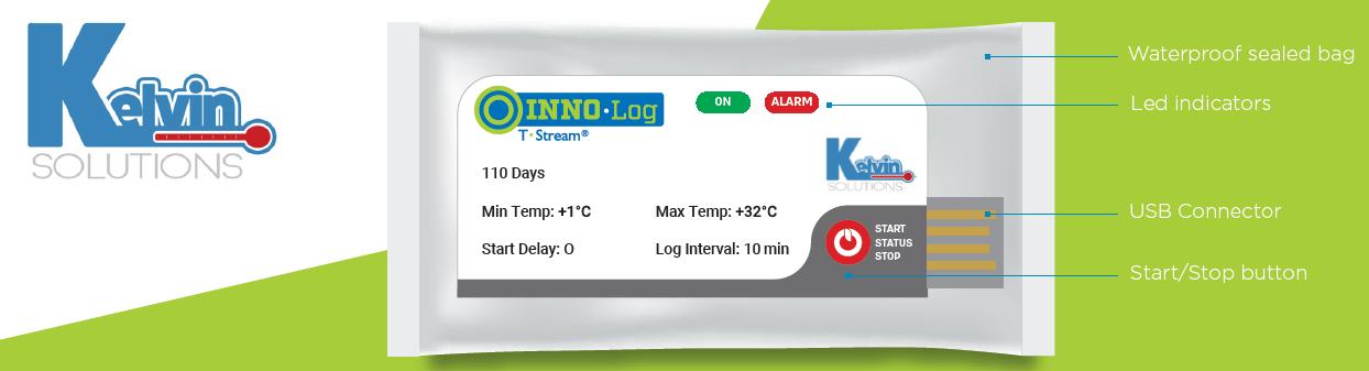 nhiệt kế tự ghi dùng 1 lần INNO Log giá rẻ