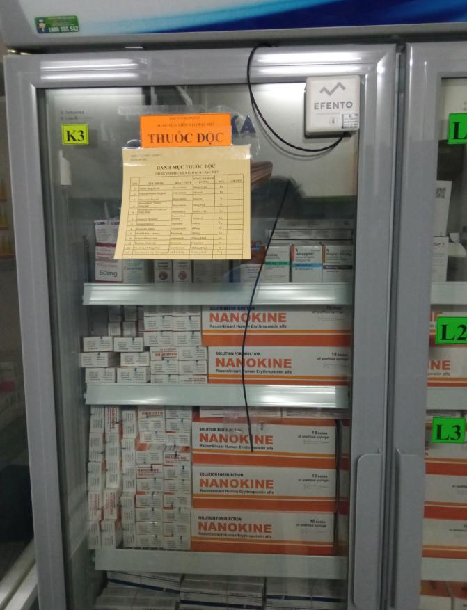 giám sát nhiệt độ tủ lạnh trong bệnh viện